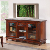 ACME 91495 TV Cabinet with 2 Glass Doors In Cherry