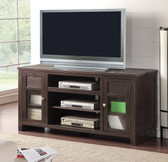 ACME 91352 TV Console with Glass Doors & shelves in Espresso