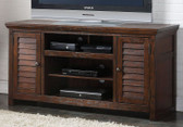 ACME 91350 TV Cabinet w/ Louver Doors in Rustic Dark Oak