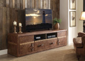 ACME Aberdeen 91500 Top Grain Leather TV Cabinet