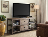 ACME 91504 TV Cabinet with Storage Drawers in Weathered Oak