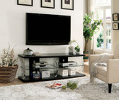 "Ernst CM5901 60"" TV Stand in High Gloss Black"