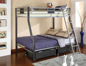 Twin Full Metal Bunk Bed
