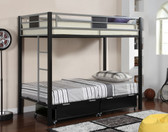 Black Twin Metal Bunk Bed