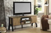 "Kirstin CM5573 Rustic Oak 60"" TV Cabinet with Wooden Doors"