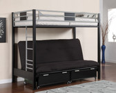 Black Twin Futon Metal Bunk