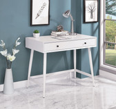 Frisco DK6542 White Writing Desk with drawers