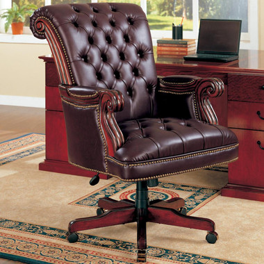 Huxton Dark Brown Executive Office Chair Executive