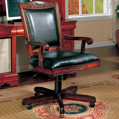 Cherry Wood Executive Office Chair