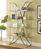 Chrome Glass Bookshelf