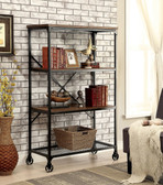 Ventura Antique Black Industrial Display Shelf | Large  Display Bookcase