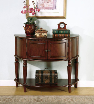 Aleida Brown Accent Entry Table
