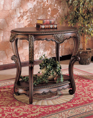 Astrid Oval Warm Brown Accent Table