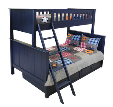 Bay Shore Stackable Twin over Full Bunk in Navy Blue