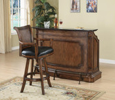 Gaetano Warm Brown Bar Counter with Storage