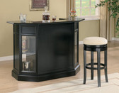 Black Bar Counter with Wine Rack