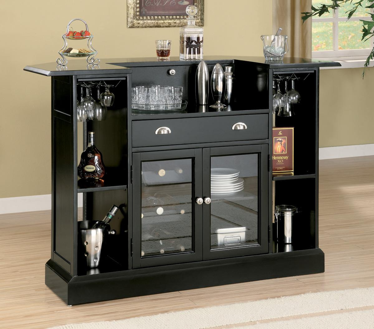 Wine rack bar table Wooden Bar Shown With Stemware Storage Black Bar Table With Wine Rack See More Picture Amazoncom Galenos Black Bar Table With Wine Rack