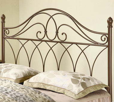 Rich Brown Metal Queen Bed