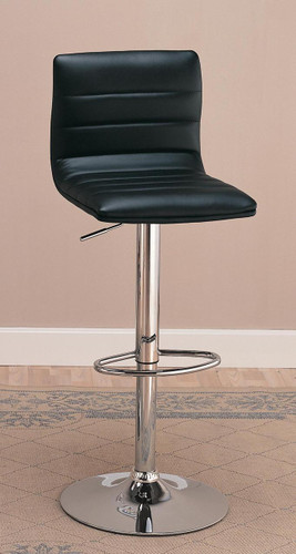 Black Chrome Adjustable Bar Stool