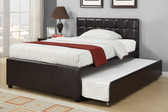 Espresso Bed With Trundle
