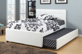 White Full Bed With Trundle Kids Beds