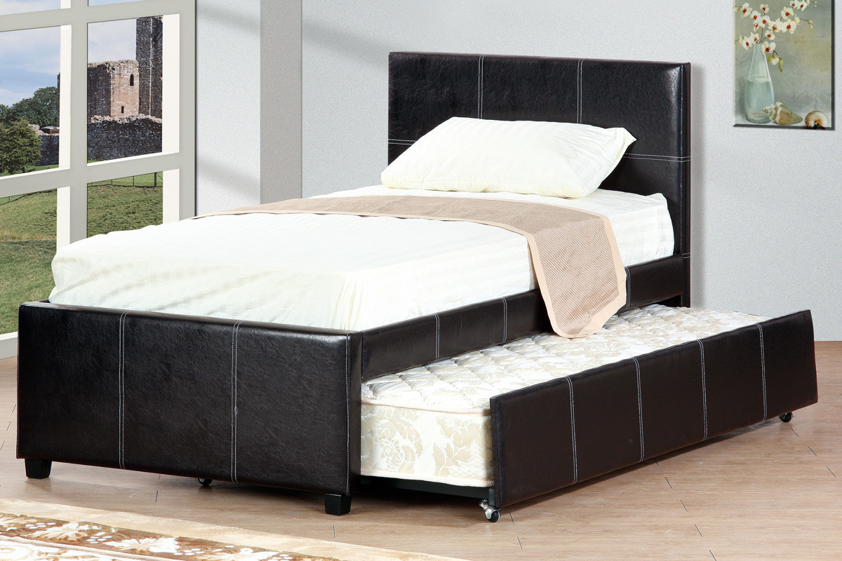 Cyril Espresso Twin Bed With Trundle