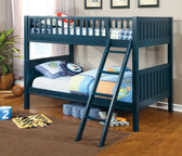Dark Blue Twin Bunk Frame