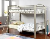 Metallic Gold Twin Metal Bunk Bed