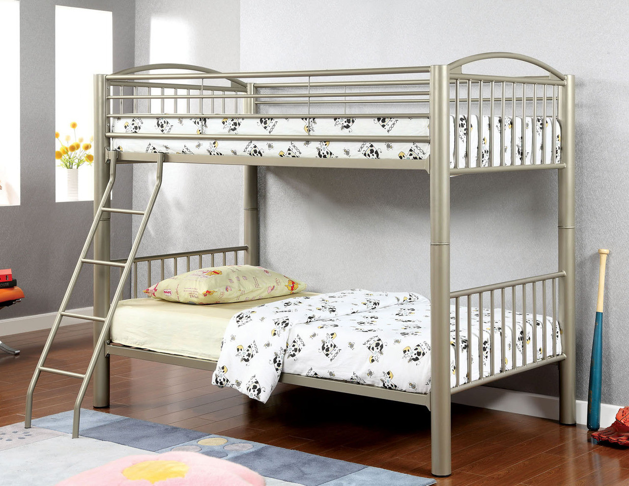 Picture of: Paddington Metallic Gold Twin Metal Bunk Bed Twin Bunk Beds
