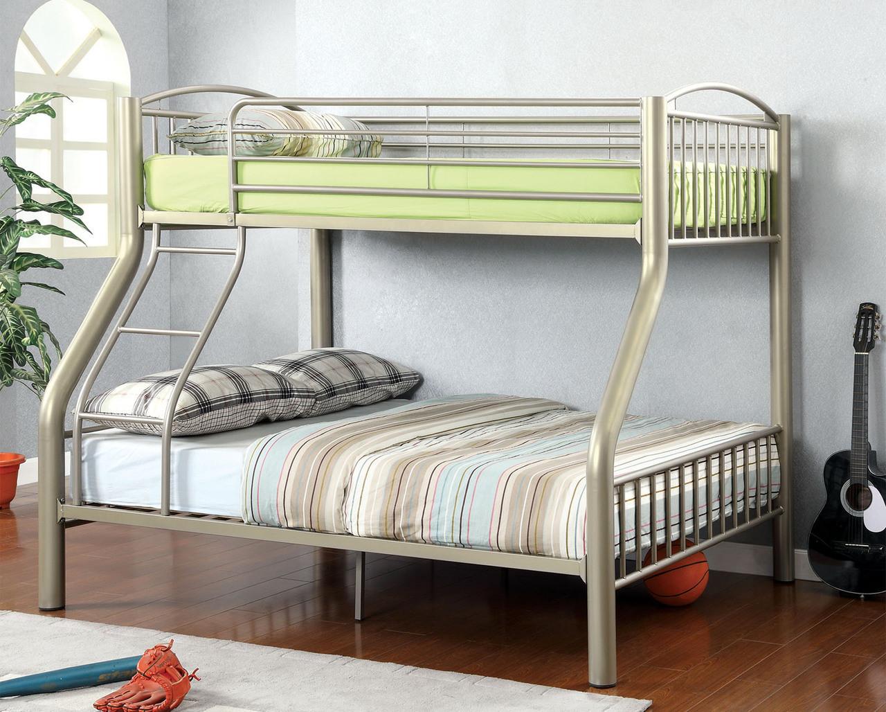 Paddington Metallic Gold Twin Over Full Metal Bunk Bed