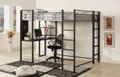 Metal Full Workstation Loft Bed