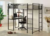Metal Twin Workstation Bed