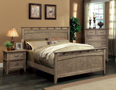 Weathered Oak Queen Transitional Bed