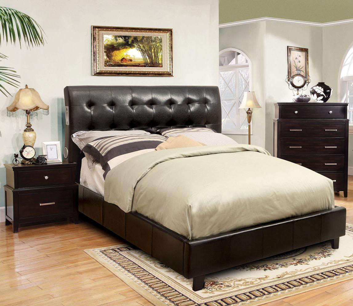 Cheap Modern Furniture Dallas: Dallas Espresso Queen Contemporary Platform Bed