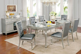 Furniture of America CM3229T Silver Gray Dining with Six Chairs