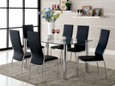 Glass Dining Table with Black Chairs
