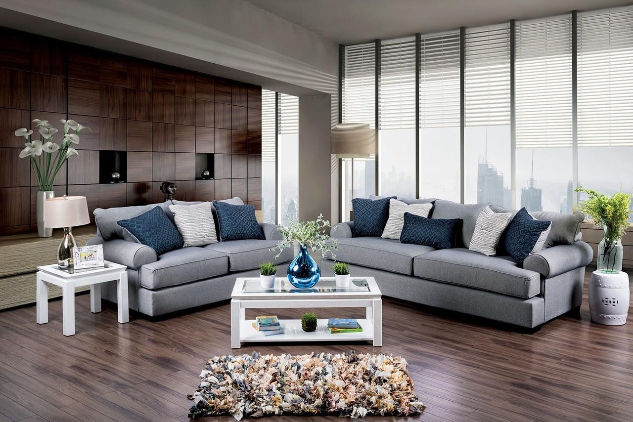 Furniture of America SM1271 Premium Fabric Love Seat