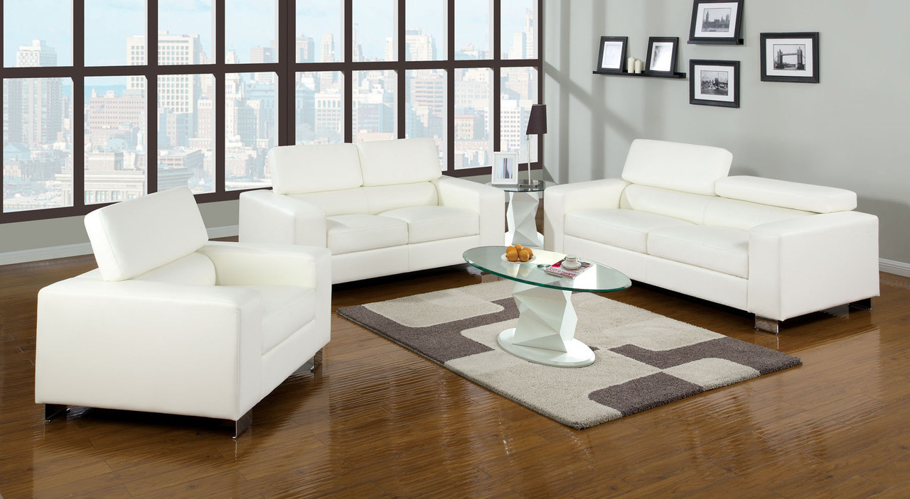 Felix Black Bonded Leather Living Room Set | Sofas, Love Seat, Chair