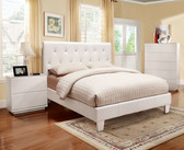 White Queen Contemporary Platform Bed
