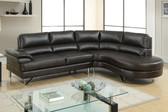 2-PCS Sectional Sofa w/ Right Facing Chaise in Espresso