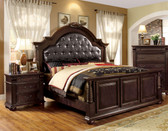 Queen Brown Cherry English Bed