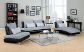 Gray Black Living Room Set