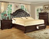 Queen Brown Cherry English Platform Bed