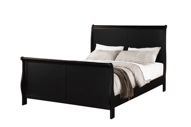 Bovina Black Transitional Sleigh Bed