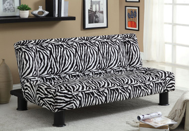 Leo Leopard Fabric Futon Sofa Bed | Affordable Futon Sofa Sleeper