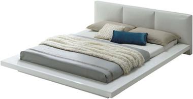 Christie High Gloss White Upholstered Bed