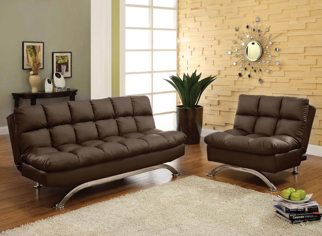 Strange Terry Black Leatherette Futon Sofa Theyellowbook Wood Chair Design Ideas Theyellowbookinfo