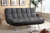 Gray Microfiber Futon Sofa