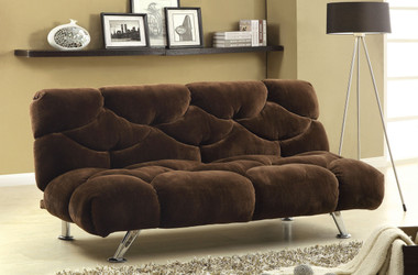 Cool Eden Chocolate Fabric Futon Sofa Sleeper Download Free Architecture Designs Ponolprimenicaraguapropertycom