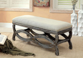 Reclaimed Gray Accent Bench